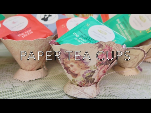 DIY Paper Tea Cups