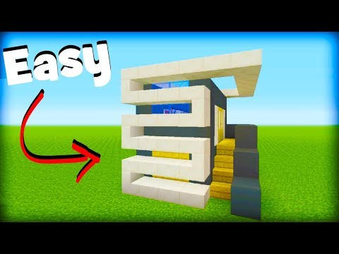 Minecraft Tutorial: How To Make A Modern House #8 (Easy Modern House)