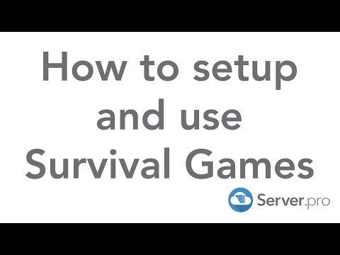 How to Setup Survival Games - Server.pro
