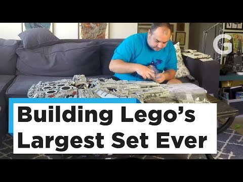 Watch Us Build Lego's Massive 7,500-Piece Millennium Falcon