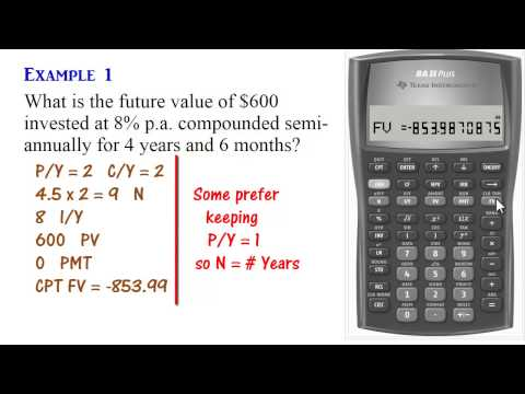 BA II Plus Calculator - Compound Interest (Present & Future Values)