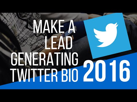 How to create a lead generating twitter bio