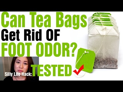 Testing Stinky Shoe Hack Using Tea Bags | The Ultimate Life Tester