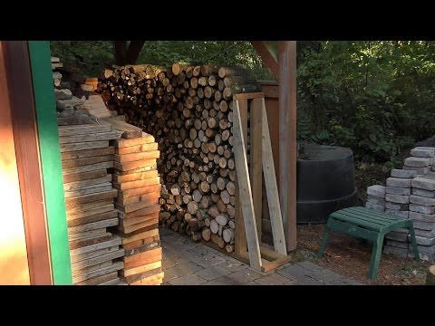 Building a Bookend Firewood Rack