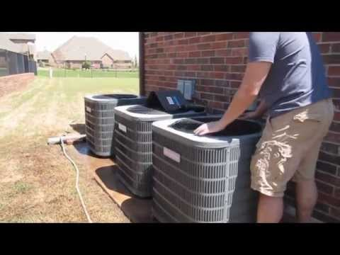 Goodman Condenser Cleaning - Multizone Unit - AC Cleaning - Clean Air Conditioner Coils