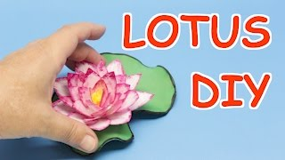 Plastic Bottle Craft Ideas: How to Make Lotus Flowers from Plastic Bottles