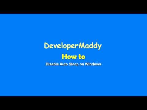 How to disable auto sleep on windows