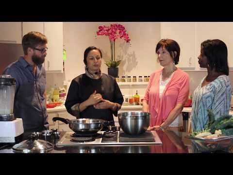 Karuna's Vegan Ayurvedic Cooking - Greens with Coconut-Cashew Cream