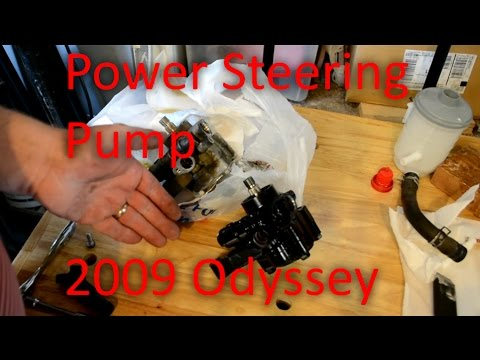 2009 Honda Odyssey Power Steering pump and reservoir , How To Replace a