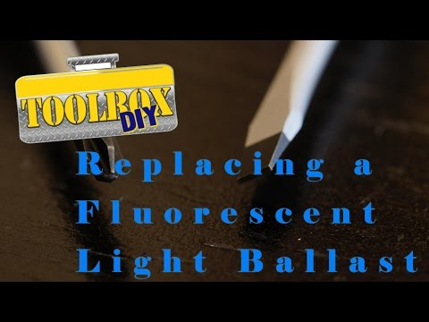 How to replace a fluorescent light ballast -Tutorial for Replacing a Fluorescent Ballast