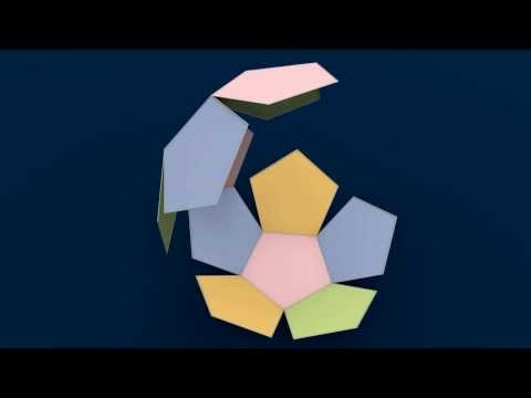 Make 3D Solid Shapes - Dodecahedron / Додекаедр / Додекаэдр