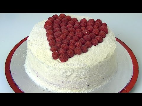COCONUT & RASPBERRY CAKE *COOK WITH FAIZA*