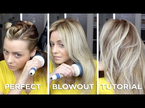 DIY Salon Quality Blowout on Long Hair in just 15 minutes. how to and Step by Step