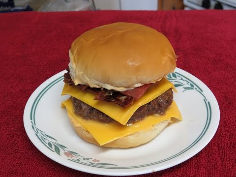 Easy Bacon Cheeseburger Cooked in the Toaster Oven