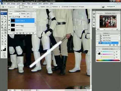 How to make a lightsaber in photoshop CS3
