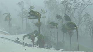Extreme Wind, Flying Debris, Wrecked Boats - Cyclone Debbie 4K Stock Footage Reel