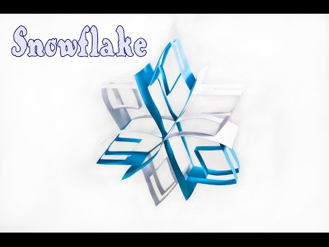 How to make 3D Paper Snowflake Tutorial