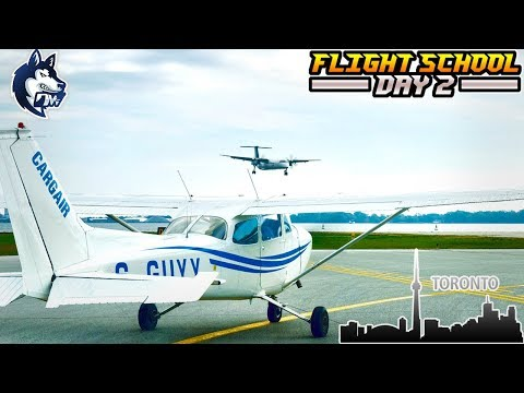 FLIGHT SCHOOL/ Private Pilot - DAY 2 - Toronto - Walkaround & Learning Attitudes - Pilot Vlogs #2