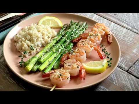 Garlic and Lemon Shrimp Asparagus
