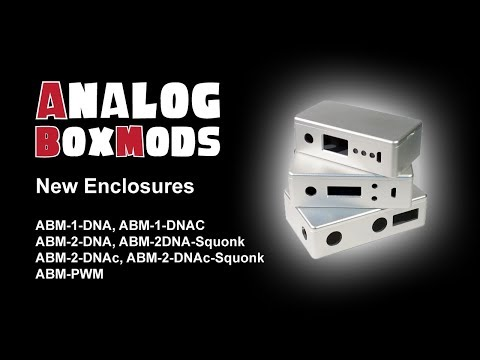 Analog Box Mod's own CNC Aluminium Enclosures