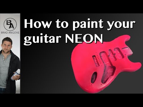How to paint your guitar neon/fluorescent