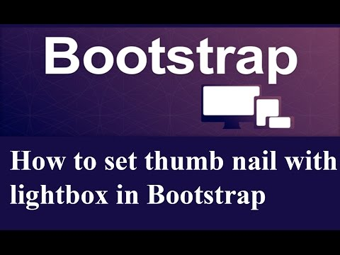 How to set thumbnail with light box in Bootstrap