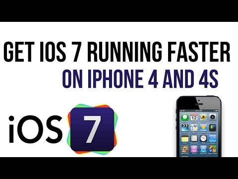 How to get ios 7 running faster on older devices (iPhone 4/4S )