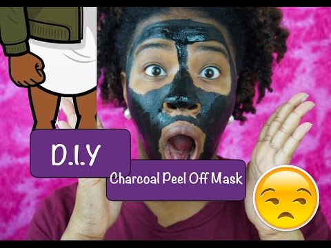 MY EDGES GOT SNATCHED....Literally!!  DIY PEEL OFF CHARCOAL MASK, OUCH!!!
