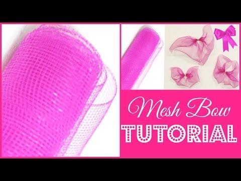 How To Make A Deco Mesh Bow |  Creative DIY Tutorial | #DIYMAS