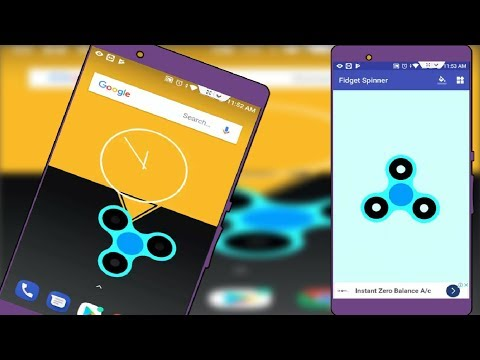 How to Add Fidget Spinner Widget in Android Phone 2018