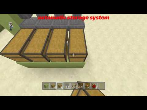 How to make an automatic storage system in minecraft