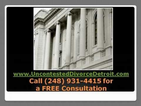 Uncontested Divorce Detroit - Attorney in Metro Detroit Michigan for your Uncontested Divorce.
