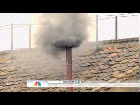 Black smoke rises after 5 undecided CONCLAVE votes | Papal ELECTION