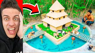 PRIMITIVE KIDS BUILDING UNDERGROUND PUPPY SWIMMING POOL HOUSE (Try Not To Say WOW)