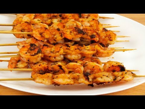How to Make Shrimp Skewers on a  Panini Grill : Panini Recipe Ideas