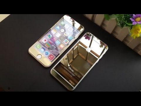 Iphone6 + Tempered Mirror Screen Protector (Gold Edition)