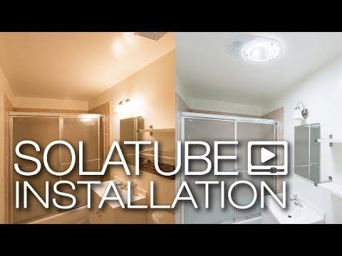 Solatube Installation: Solatube 160 DS Light Kit & Vent Kit in Bathroom