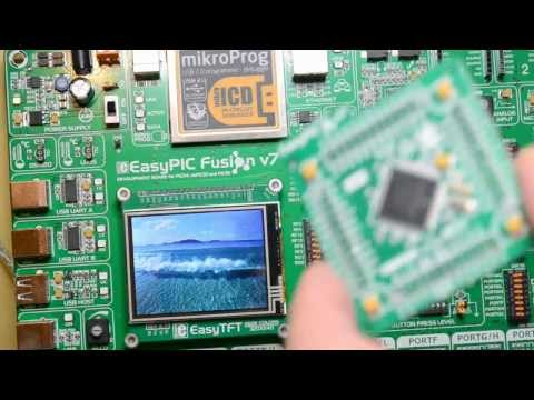 Mikroelektronika's EasyPic Fusion V7 (from Farnell)dsPic33, Pic32, 320x240 TFT colour Screen