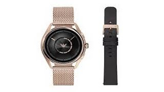 The latest Armani designer smart watches come with strap options and high-tech features.