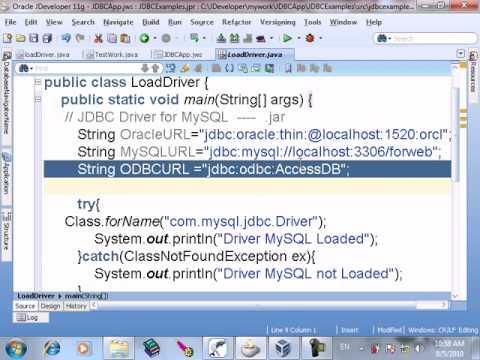 41  JDBC Establish Connection and URL   MYSQL Server   and Connect to Oracle DB and Connect to Access Over ODBC
