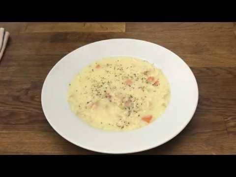 Greek Inspired Chicken Lemon & Rice Soup Video