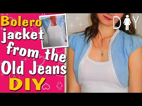 JEANS RECYCLE | How to make a Bolero Jacket?