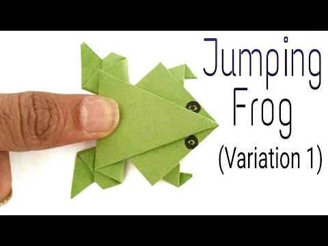 Traditional Jumping Frog (Variation 1) - Action Fun Origami Tutorial by Paper Folds.
