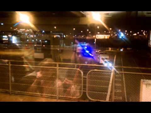 Police low speed Chase at Seattle Ferry Terminal.