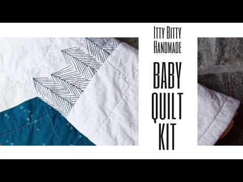 The Modern Baby Quilt Kit That We Love!