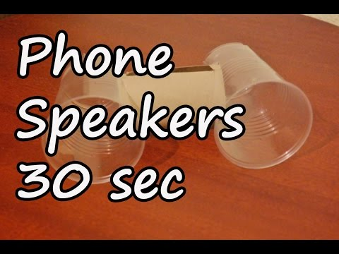How to make phone speakers in 30 seconds