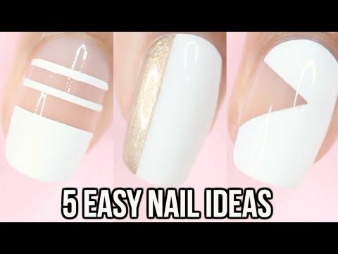 5 EASY White Nail Ideas Part 2