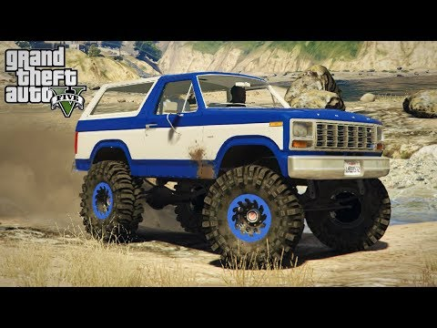FORD BRONCO MUDSLINGER! 4x4 Mudding & Off-Roading! (GTA 5 PC Mods)
