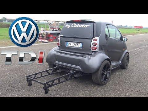 Smart Car Drag Build Feat. VW 1.9 TDI Engine Swap Smoking On The Dragstrip!