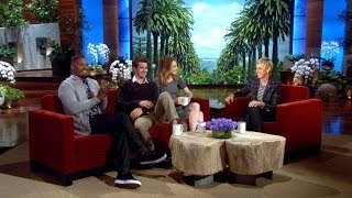 Ellen Asks Emma Stone and Andrew Garfield About Sharing Hotel Rooms